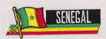 Senegal Embroidered Flag Patch, style 01.